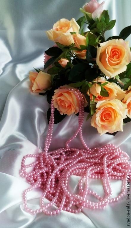 Для украшений ручной работы. Ярмарка Мастеров - ручная работа. Купить Бусины (6 мм) (розовый). Handmade. Розовый