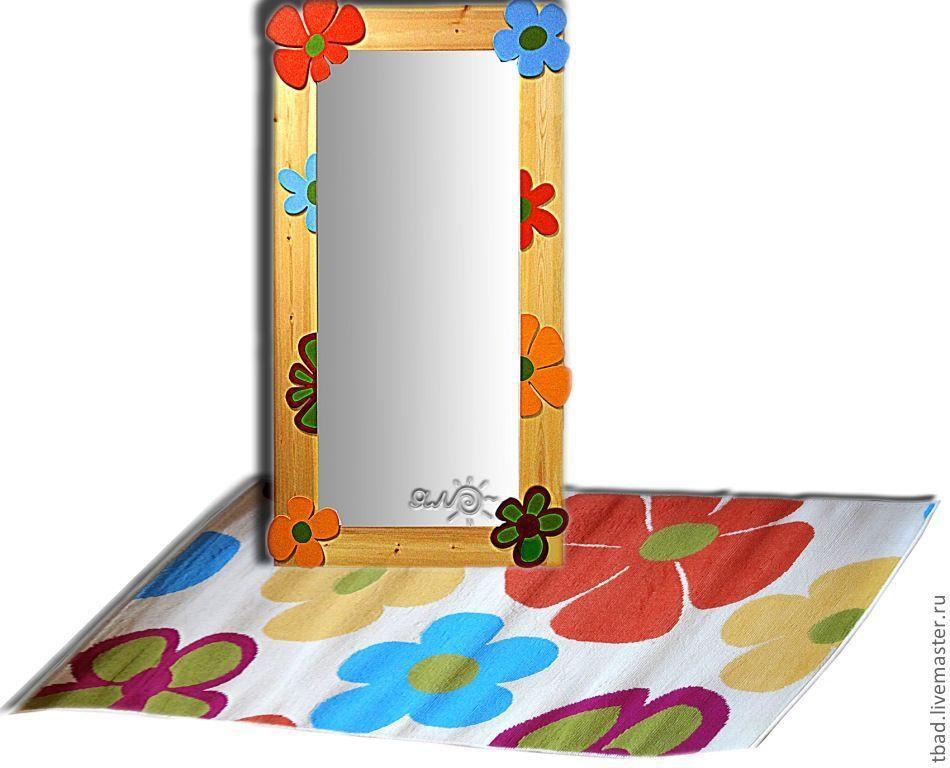 Зеркало настенное Цветы, Зеркала, Новосибирск,  Фото №1