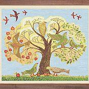 """Схемы для вышивки ручной работы. Ярмарка Мастеров - ручная работа """"Древо. Райские птицы"""" Схема для вышивки крестом. Handmade."""