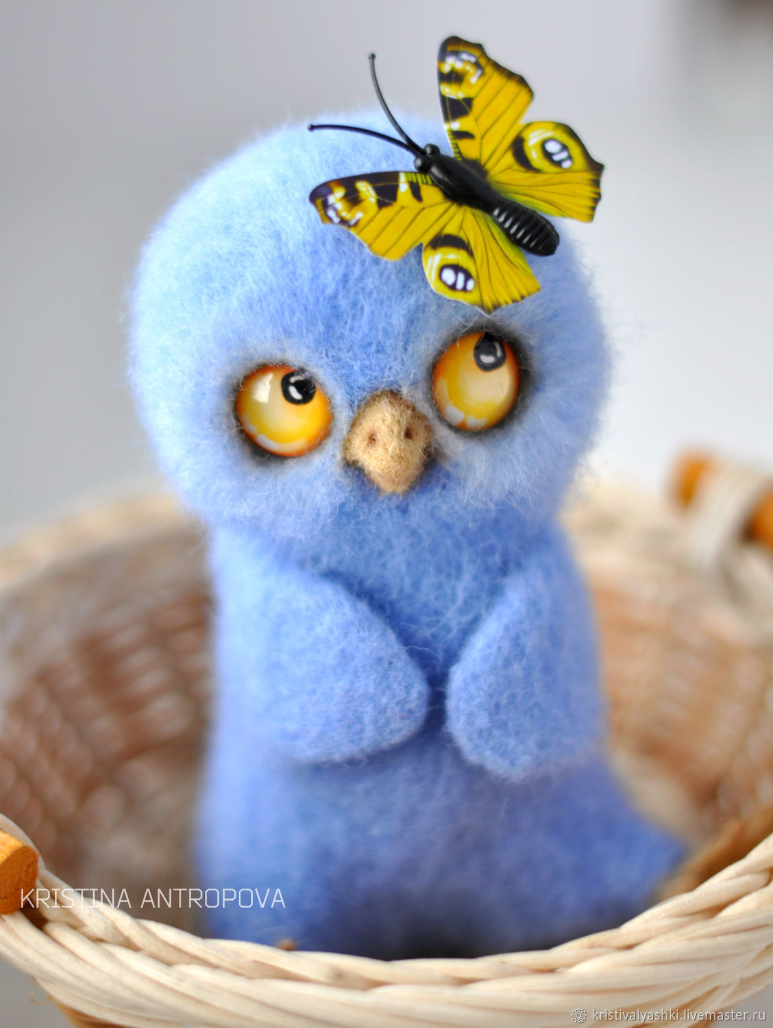 Felted toy owl, Felted Toy, Arkhangelsk,  Фото №1