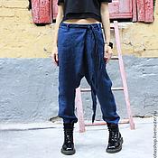 Одежда ручной работы. Ярмарка Мастеров - ручная работа Брюки из льна LOFT. Handmade.