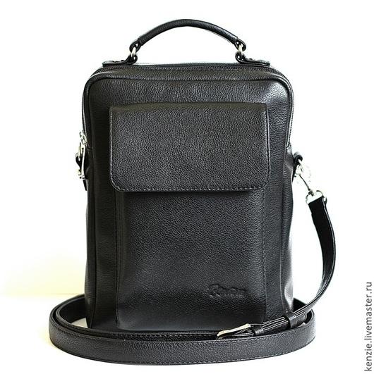 """Мужские сумки ручной работы. Ярмарка Мастеров - ручная работа. Купить Сумка кожаная мужская """" Message-bag-1 """". Handmade."""