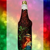 Бутылки ручной работы. Ярмарка Мастеров - ручная работа Чехол для бутылки. Handmade.