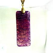 Украшения handmade. Livemaster - original item A copy of the product is an elegant pendant made of bright pink agate. Handmade.