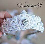 Свадебный салон handmade. Livemaster - original item Bridal tiara. Handmade.