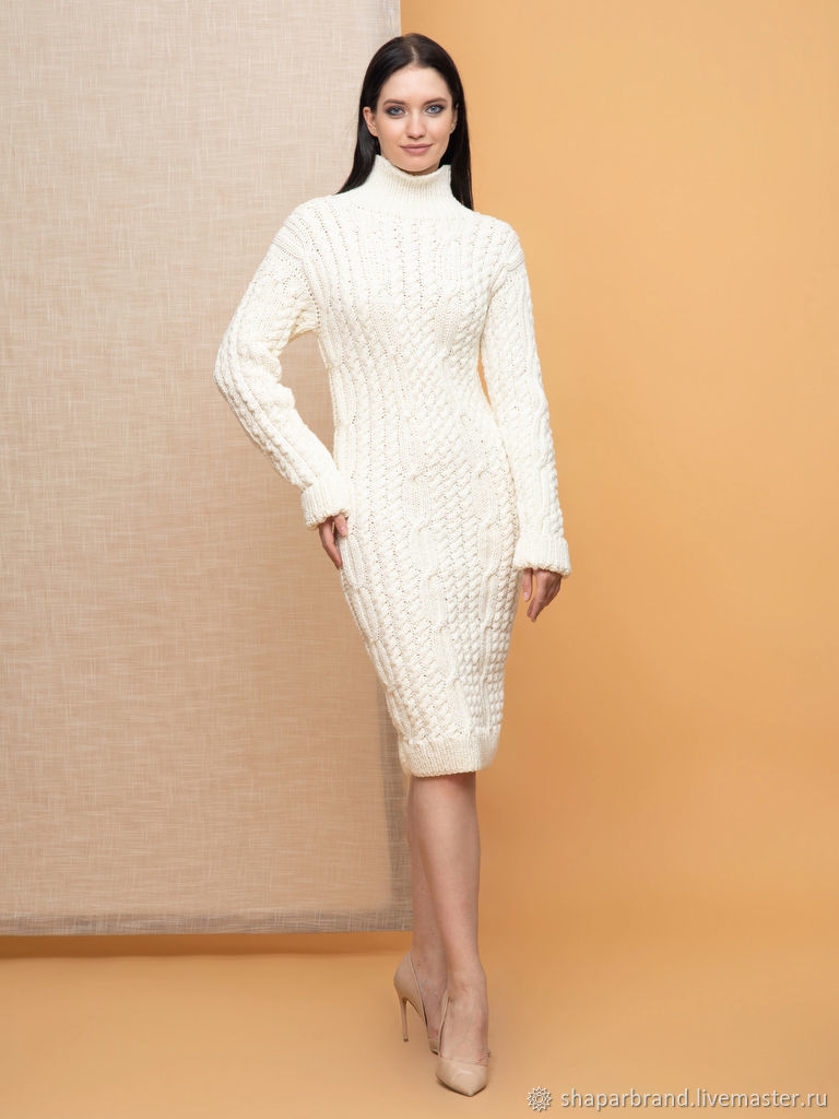 White winter dress with long sleeves, Dresses, Moscow,  Фото №1