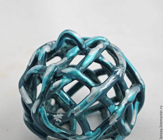 Елочные шары. Керамика. Плетеная керамика Елены Зайченко