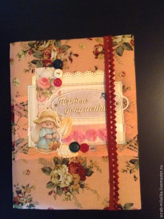 Подарки для новорожденных, ручной работы. Ярмарка Мастеров - ручная работа. Купить Первые документы. Handmade. Разноцветный, лён