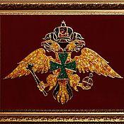 Подарки к праздникам handmade. Livemaster - original item The coat of arms of the FSB Border service of Russia made of amber. Handmade.
