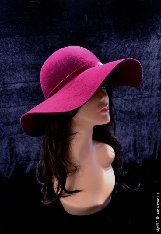 """Шляпы ручной работы. Ярмарка Мастеров - ручная работа. Купить """"Фуксия"""". Handmade. Фуксия, женская шляпа"""