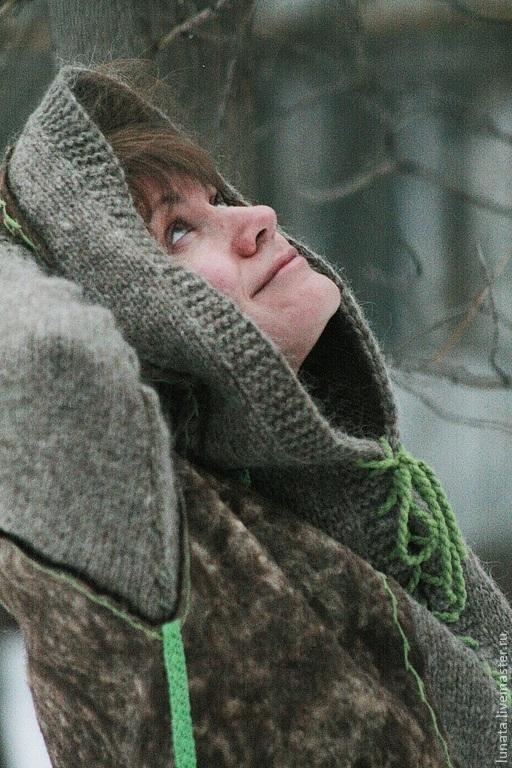 """Кофты и свитера ручной работы. Ярмарка Мастеров - ручная работа. Купить Двусторонняя валяная куртка """"Когда сойдет снег..."""". Handmade."""