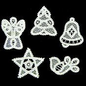 Подарки к праздникам handmade. Livemaster - original item Openwork 3. A set of Christmas ornaments. Handmade.