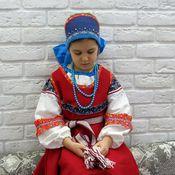 Русский стиль ручной работы. Ярмарка Мастеров - ручная работа Русский народный костюм для девочки. Handmade.