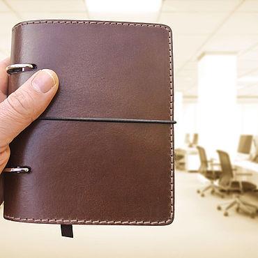 Stationery handmade. Livemaster - original item Nominal leather notebook A6 format. Handmade.
