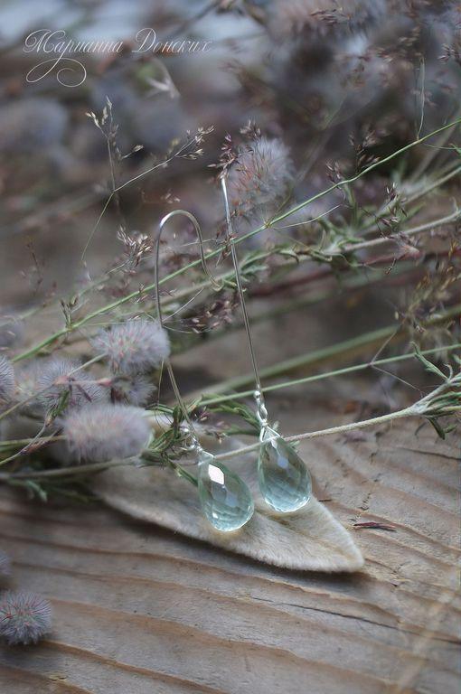 """Серьги ручной работы. Ярмарка Мастеров - ручная работа. Купить Серьги """"Ранним утром"""" серебро 925. Handmade. Серьги, капли"""