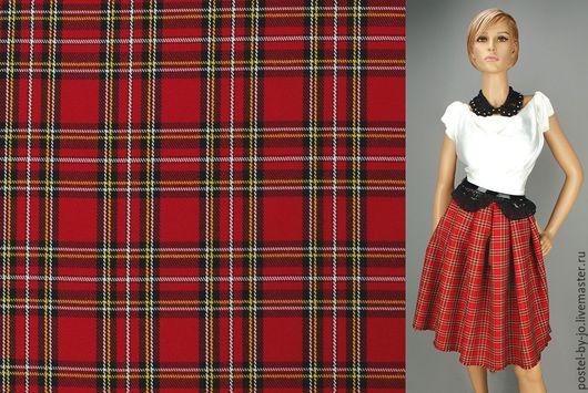 """Шитье ручной работы. Ярмарка Мастеров - ручная работа. Купить Ткань костюмная клетка """"Шотландия"""". Handmade. Шотландская клетка, клетка"""