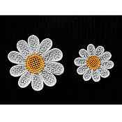 Материалы для творчества handmade. Livemaster - original item Embroidery applique patch delicate Daisies sewn. Handmade.
