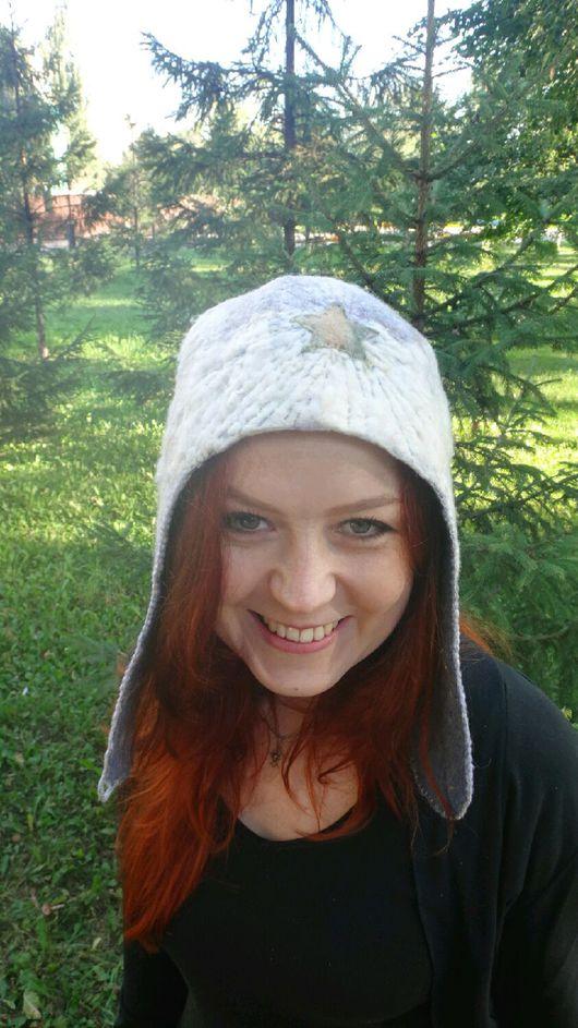 """Шапки ручной работы. Ярмарка Мастеров - ручная работа. Купить Валяна шапка """"буденовка"""". Handmade. Валяная шапка, шапка с ушками"""