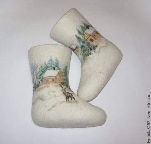 """Обувь ручной работы. Ярмарка Мастеров - ручная работа. Купить Детские валенки """"Зимняя сказка"""". Handmade. Белый, обувь для детей"""