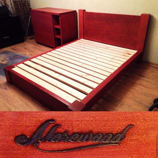 Мебель ручной работы. Ярмарка Мастеров - ручная работа. Купить Кровать1. Handmade. Коричневый, кровать на заказ, дерево, кедр