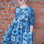 Платья ручной работы. Ярмарка Мастеров - ручная работа Платье для кормящих и беременных, Васильки. Handmade.