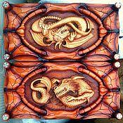 Сувениры и подарки handmade. Livemaster - original item Backgammon Dragon 60 x 60 cm handmade. Handmade.
