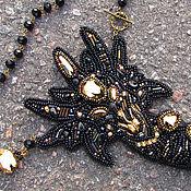 """Украшения ручной работы. Ярмарка Мастеров - ручная работа Кулон """"Black Dragon"""" с чёрным агатом и swarovski. Handmade."""
