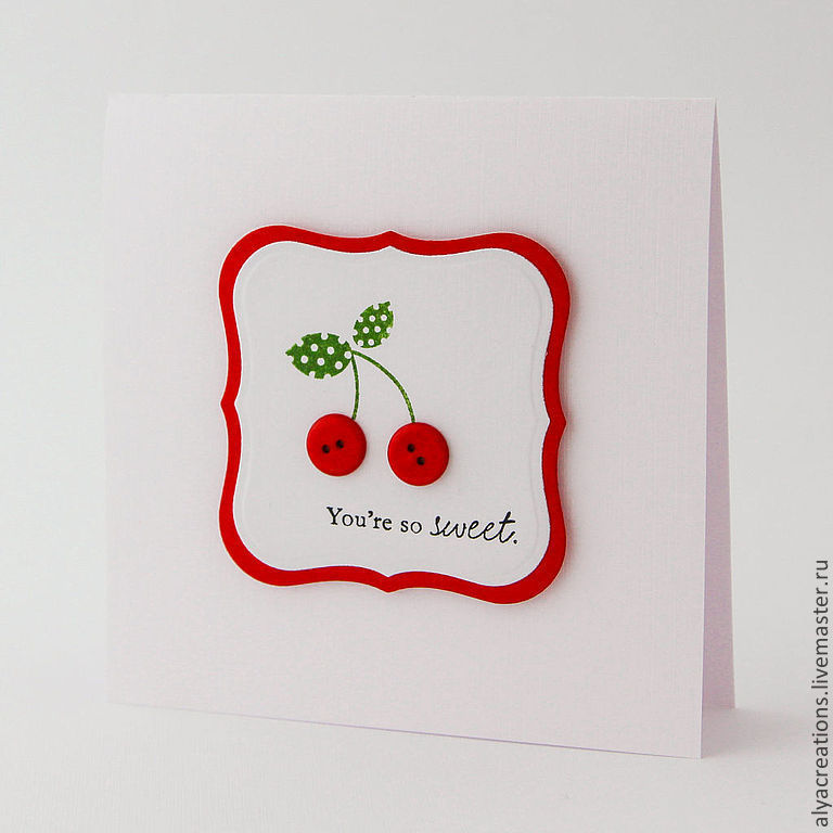 Пожеланием добра, открытки с вишенкой
