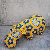 Мягкие игрушки ручной работы. Ярмарка Мастеров - ручная работа Вязаный бегемот Иммануил. Handmade.