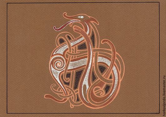 Символизм ручной работы. Ярмарка Мастеров - ручная работа. Купить Кельтский дракон. Handmade. Кельтские узоры, кельтский орнамент, дракон