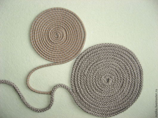 Аппликации, вставки, отделка ручной работы. Ярмарка Мастеров - ручная работа. Купить Шнур льняной, плетёный. Handmade. Шнур, лен