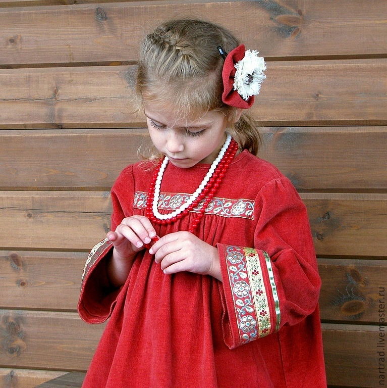Dress in the Russian style for girls, Dresses, Anapa,  Фото №1
