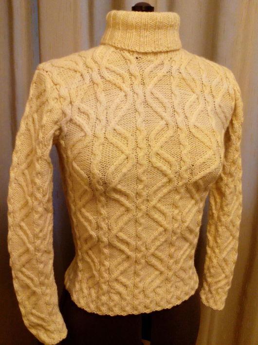 Кофты и свитера ручной работы. Ярмарка Мастеров - ручная работа. Купить Свитер Сигулда. Handmade. Бежевый, натуральная шерсть, зима