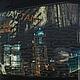 """Женские сумки ручной работы. Женская текстильная сумка  """"Огни большого города"""". Лоскутные мотивы (swet-la-na). Ярмарка Мастеров."""