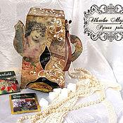 Для дома и интерьера handmade. Livemaster - original item Vintage kettle for tea bags. Handmade.
