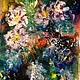 Картины цветов ручной работы. Ярмарка Мастеров - ручная работа. Купить Цветы,фантазия, подарок от автора. Handmade. Фиолетовый