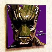 Картины и панно handmade. Livemaster - original item Painting Pop Art Groot Guardians Of The Galaxy. Handmade.