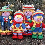 Куклы и игрушки ручной работы. Ярмарка Мастеров - ручная работа Вязаные из шерсти куклы Семья. Handmade.
