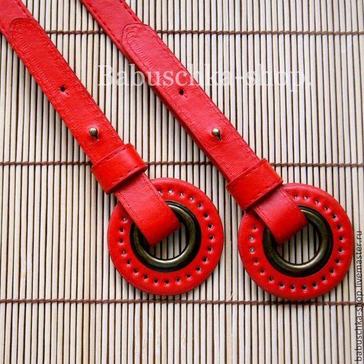 Другие виды рукоделия ручной работы. Ярмарка Мастеров - ручная работа. Купить Ручки для сумок с кольцами 50см.  Красный. Handmade.
