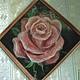 Картины цветов ручной работы. Заказать картина из шерсти ,,Роза,,. helenakam. Ярмарка Мастеров. Для дома и интерьера, интерьерная картина