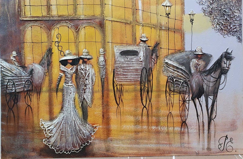 Картина маслом на двп, Оформлено в рамку 65х45см, Картины, Малоярославец,  Фото №1
