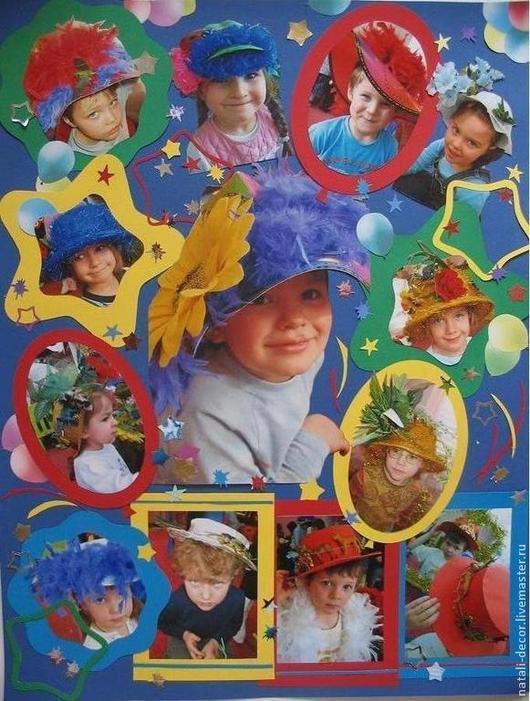 """Фотокартины ручной работы. Ярмарка Мастеров - ручная работа. Купить фотоколлаж """"Детский праздник"""". Handmade. Коллаж, фотокартина, фотоколлаж, ярко"""