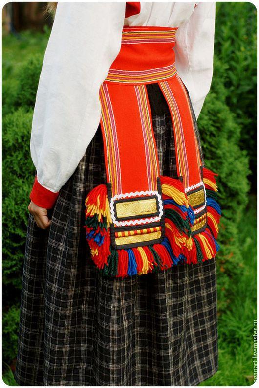 Одежда ручной работы. Ярмарка Мастеров - ручная работа. Купить Пояс-кушак для народного костюма. Handmade. Пояс, пояс на рубаху
