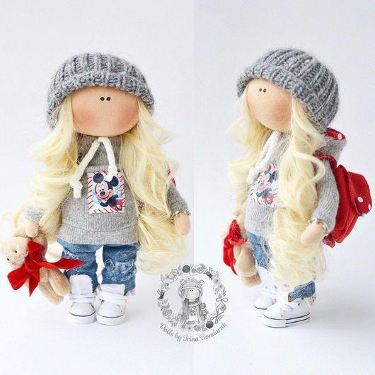 Куклы тыквоголовки ручной работы. Ярмарка Мастеров - ручная работа. Купить Интерьерная кукла. Handmade. Комбинированный, Микки Маус, вязание