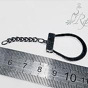 Материалы для творчества handmade. Livemaster - original item Base with chain FOB silver 925, Russia. Handmade.