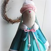 Куклы и игрушки ручной работы. Ярмарка Мастеров - ручная работа Новогодняя зайка с сердечком. Handmade.