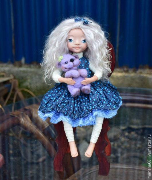 Коллекционные куклы ручной работы. Ярмарка Мастеров - ручная работа. Купить Интерьерная кукла Элли. Handmade. Белый, кукла в подарок