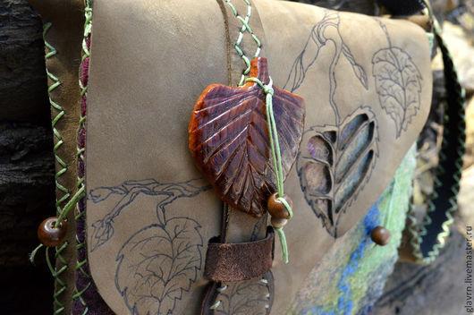 Женские сумки ручной работы. Ярмарка Мастеров - ручная работа. Купить Сумка Лесная. Handmade. Абстрактный, сумка через плечо