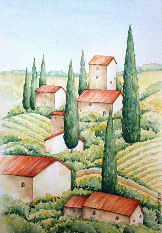 Рисунок `Италия`  (акварель)