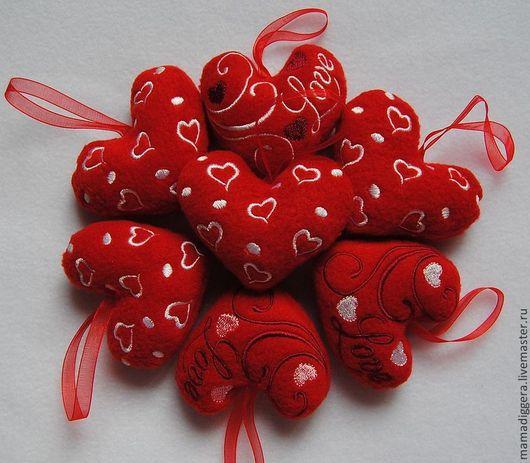 Подарки для влюбленных ручной работы. Ярмарка Мастеров - ручная работа. Купить Сердечки.. Handmade. Ярко-красный, подарок на день валентина